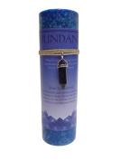 Blue Goldstone Crystal Energy Pillar Candle and Pendant Stone for Abundance